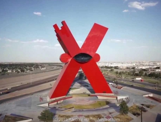 Red X in Juarez, Mexico - source Aaron V via TripAdvisor.com