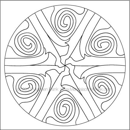 2017 169 Yarn Mandala To Color