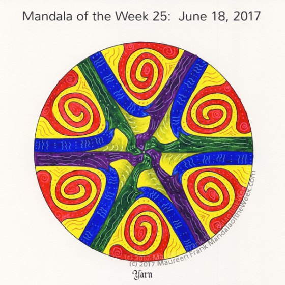Yarn Mandala in Color by me (Maureen Frank)