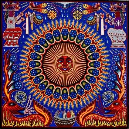 Huichol Yarn Art by Mariano Valadez Navarro