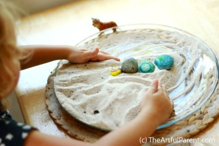 DIY Zen Rock Garden from TheArtfulParent.com
