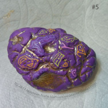 "Buried Treasure: 05 - fill in between the gold areas with gel pen ""petroglyphs"""