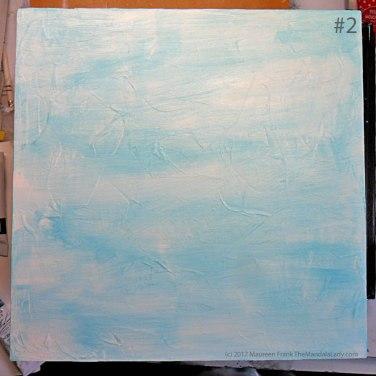 Breezy Mandala - Day 1: #2 - added a wash of light blue permanent