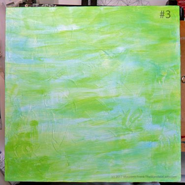 Breezy Mandala - Day 1: #3 - added a wash of vivid lime green