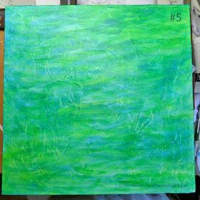 Breezy Mandala - Day 1: #5 - added a layer of manganese blue