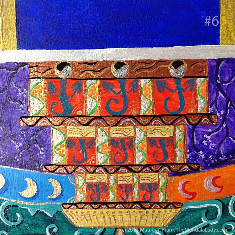 "Archangel #1 Mandala: 06 - add black wavy lines on base copper ""beam"""