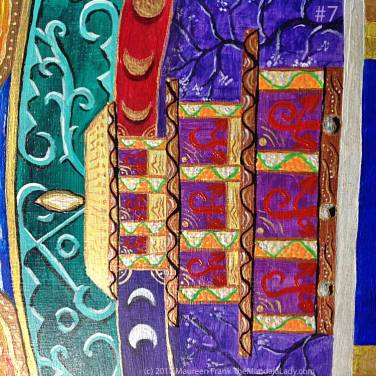 "Archangel #1 Mandala: 07 - add white dots on base copper ""beam"""