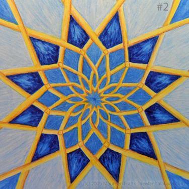 Mosaic Mandala: Update 1.2 - add dark blue shadows to round 4 pattern