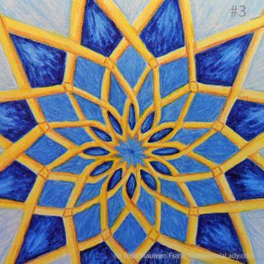Mosaic Mandala: Update 1.3 - add dark blue shadows to round 1 pattern