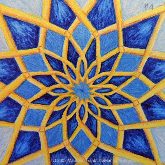 Mosaic Mandala: Update 1.4 - add dark blue shadows to round 2 pattern