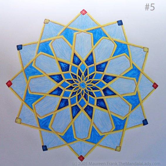 Mosaic Mandala: Update 1.5 - full view of today's painting