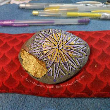 The Path MMS: 6 - add dark purple dots and lines around and in the 'sun flower'