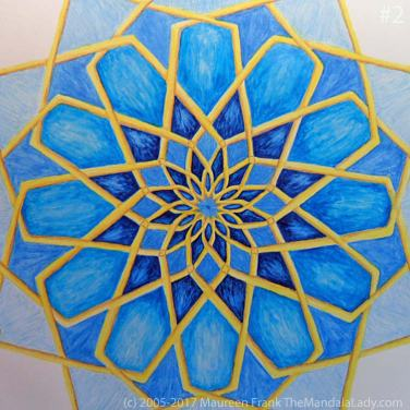 Mosaic Mandala Day 2: 2 - finish adding shadows and dimension to round 5