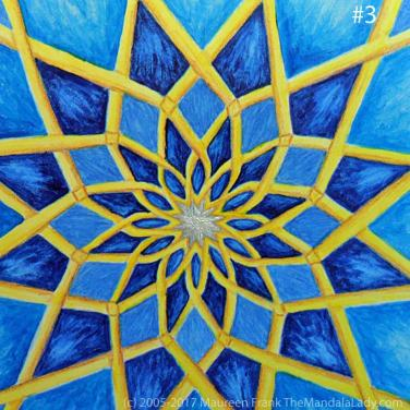 "Mosaic Mandala Day 2: 3 - add iridescent pearl to center ""star"""