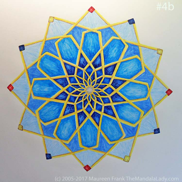 Mosaic Mandala Day 2: 4b - full view of today's progress