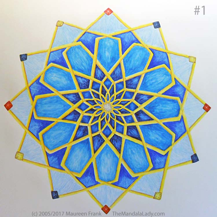Mosaic Mandala Day 3: 1 - add shadows to round 7