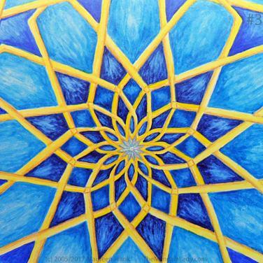 Mosaic Mandala Day 3: 3 - add details to center star