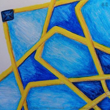 Mosaic Mandala Day 3: 4 - add yellow and fine tune edges of design