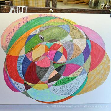 My Journey Mandala Day 4: 4 - finish adding gel pen details