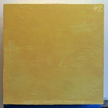 Night Crawlers Mandala - update 1: 2 - paint entire panel with naples yellow