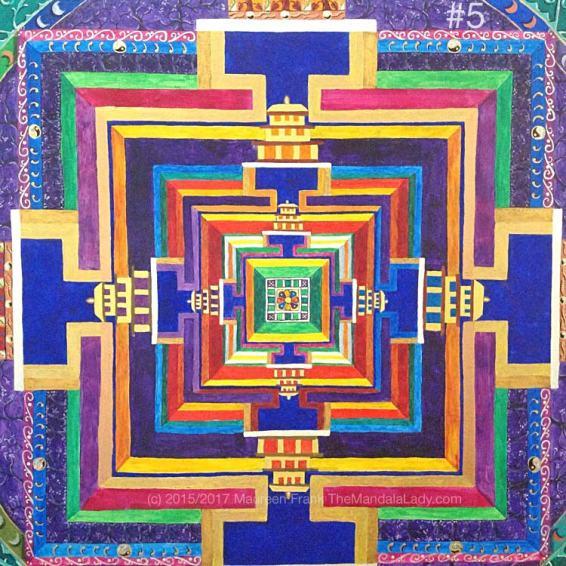 Archangel #1 Mandala Update 4: 5 - full view of today's progress