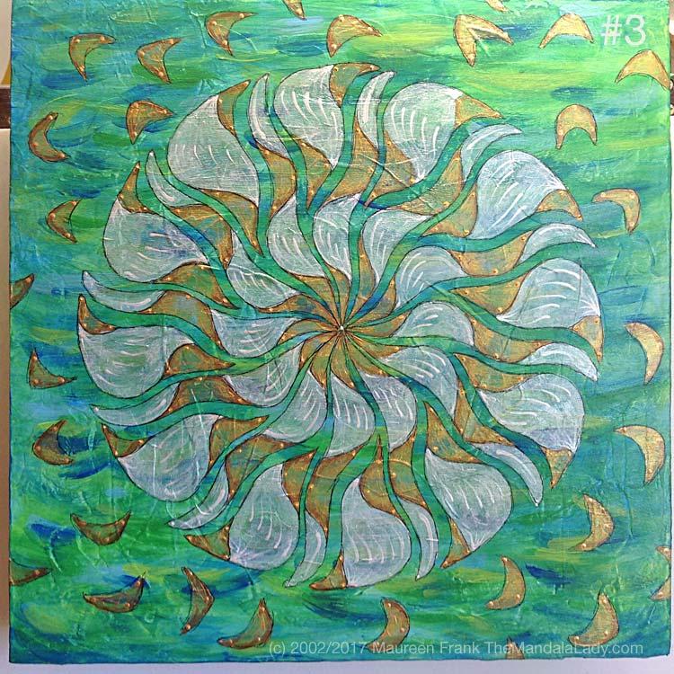 Breezy Mandala - Day 7: 3 - full view of progress (done)