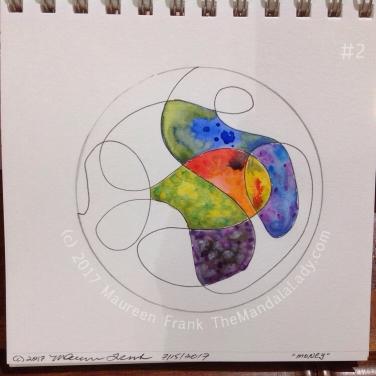 Money Mandala: 2 - continue painting