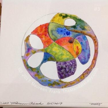 Money Mandala: 3 - continue watercolor painting