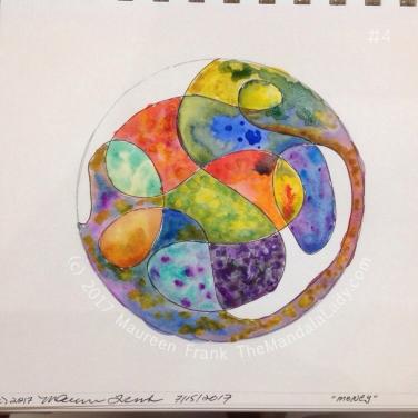 Money Mandala: 4 - continue watercolor painting