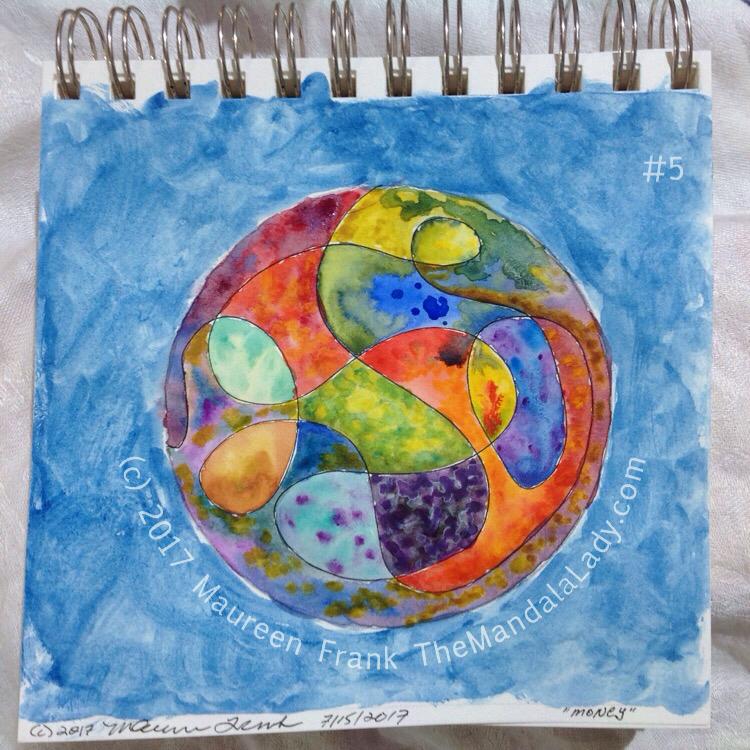 Money Mandala: 5 - continue mandala painting add background