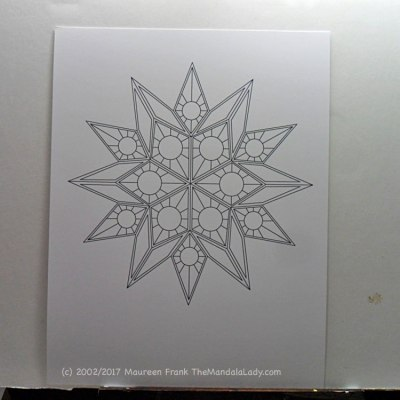 Soulscape - Day 1: 1 - Draw out the mandala design and print it on bristol paper
