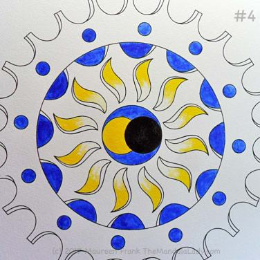 The Eclipse Version 2: 4 - paint the blue sections w/ultramarine blue