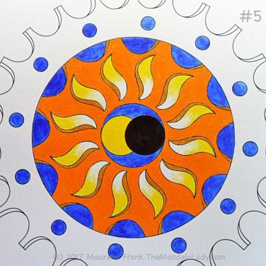 The Eclipse Version 2: 5 - paint the orange gear wheel with cadmium orange and yellow ochre (shadow)