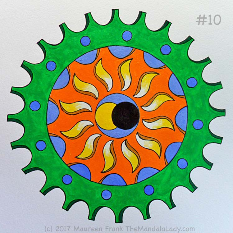 The Eclipse Version 2: 10 - full view of completed mandala