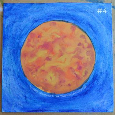Orange Mandala: 4 - done adding water to background