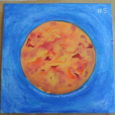 Orange Mandala: 5 - enhance elements within the orange (darken some areas)