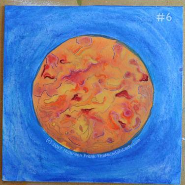 Orange Mandala: 6 - add gel pen details