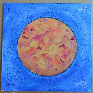"Orange Mandala: 7 - add black ""leaves"" around the outside"