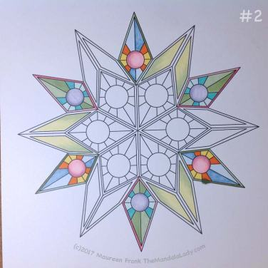 Soulscape Day 3: 2 - add light green shading to yellow to three triangle points