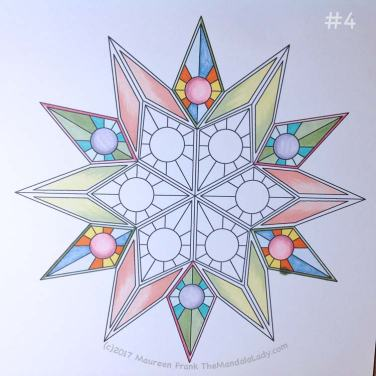 Soulscape Day 3: 4 - add darker peach shading to yellow to three triangle points