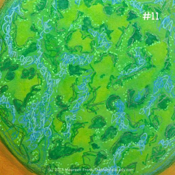 A Whole New World: 11 - add green gel pen dots to green orb