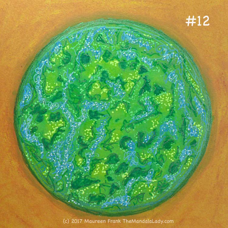 A Whole New World: 12 - add yellow gel pen dots to green orb