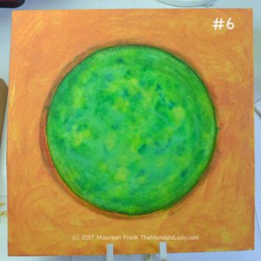 A Whole New World: 6 - with wet brush, clean up the edges of the green orb