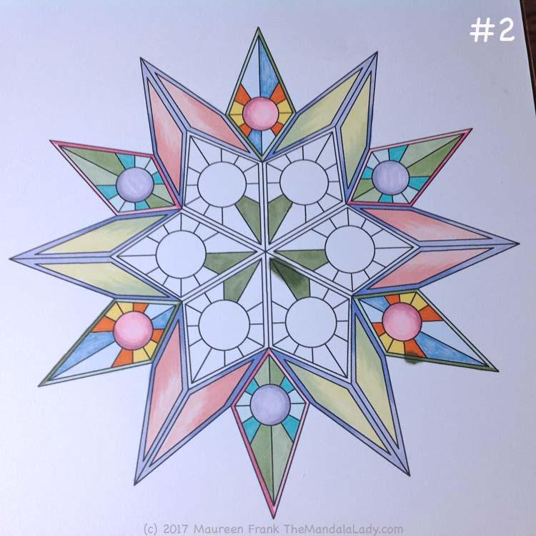 Soulscape Day 4: 1 - Start in the center w/darker green
