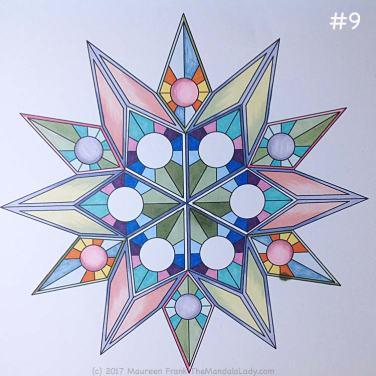 Soulscape Day 4: 9 - add purple trim to 3 of the center diamonds