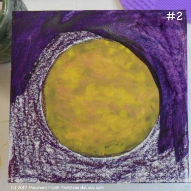 Yellow/Purple Day 1: 2 - start adding water to the background