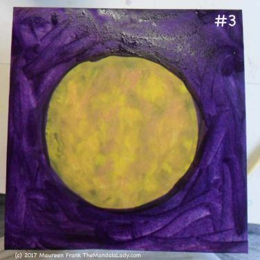 Yellow/Purple Day 1: 3 - finish adding water to the background