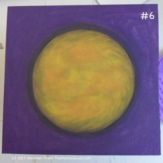 Yellow/Purple Day 1: 6 - add a bit of shadow around the mandala