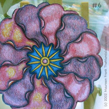Primrose #2 Day 1: 6 - add warm dark salmon color to shading to pink petals on right