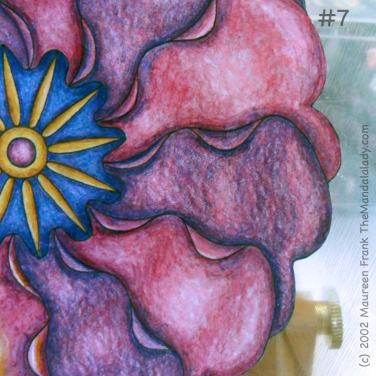 Primrose #2 Day 1: 7 - add warm lighter salmon color to smooth shading to pink petals on right